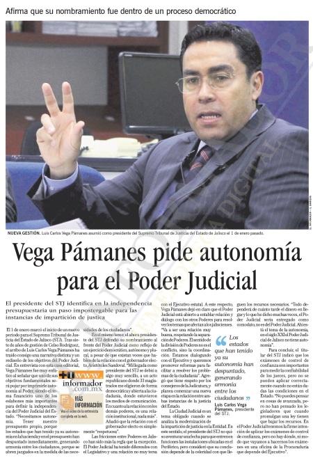 Vega pamanes Presidente STJE 2012-20132